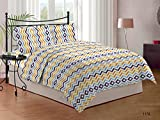 Bombay Dyeing Cardinal 100% Cotton Double Bedsheet with 2 Pillow Covers-Yellow