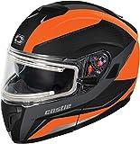 Castle X Atom SV Tarmac Electric Modular Snowmobile Helmet (XLG, White)