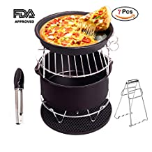 Air Fryer Accessories Deep Fryer for Gowise Phillips and Cozyna with Non Stick Pan Material Fit all 3.7QT-5.3QT-5.8QT Set of 5 for Cake Pizza Barbecue[2 Special Gift] by WYCY