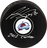 Gabriel Landeskog Colorado Avalanche Autographed Hockey Puck with 2012 Calder Inscription - Fanatics Authentic Certified