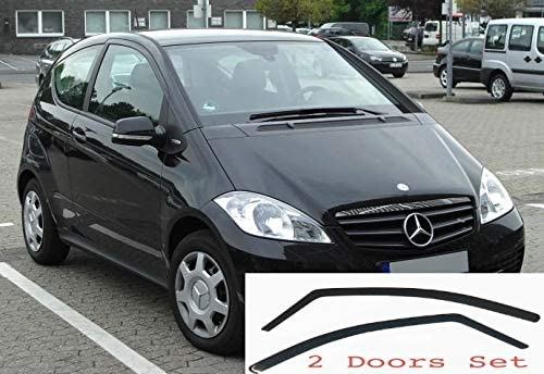 2x Windabweiser Kompatibel Mit Abe Für Mercedes A Klasse W169 2004 2012 3 Türer Dunkel Getöntes Premium Qualität Acrylglas Pmma Auto