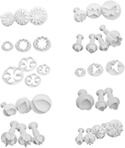 33pcs Cake Cutter Shapes Set, Mini Pie, Fruit and Cookie Stamps Mold, Cookie Cutter Decorative Food for Kids Baking and Food Supplement Tools Crafts for Kitchen