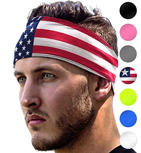 Workout Headband: UNISEX Fitness USA Flag Headbands