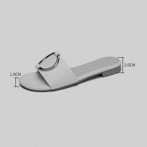 Color Tamaño 5 Blanco Libre Mujer De De Aire Al Blanco Sandalias Zapatillas Moda CN43 UK8 xy De EU42 Verano Zapatos 7nRqT16