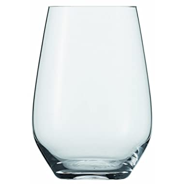Schott Zwiesel Crystal Glass Tritan Crystal Glass Forte Collection Universal/Cocktail Tumbler, Stemless Wine Glass, 19.1-Ounce, Set of 6