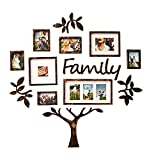 Jerry & Maggie - Photo Frame | Plaque College Frame - Wall Decoration Combination - Brown PVC Picture Frame Selfie Gallery Collage Hanging Template & Wall Mounting Design | Family Tree