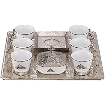 Ottoman Turkish Greek Arabic Coffee Espresso Guest Serving Cup Saucer Set - New Model Square FULL  sc 1 st  Amazon.com & Amazon.com |