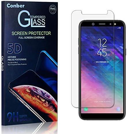 Conber Panzerglasfolie für Samsung Galaxy A6 2018, [1 Stück] 9H gehärtes Glas, Kratzfest, Blasenfrei, Hülle Freundllich Hochwertiger Panzerglas Schutzfolie für Samsung Galaxy A6 2018