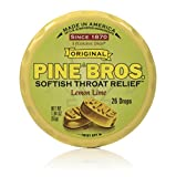 Pine Bros Throat Drops Puck, Lemon Lime, 26 Count (Pack of 72)