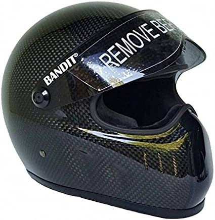 Bandit XXR Casque Carbone pour Street Fighter Tr/ès L/éger Top Speed s/ûr