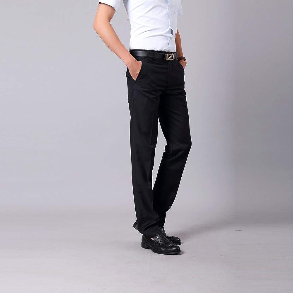 Sylar Pantalones Largos Hombre Pantalones De Formal Negocios ...