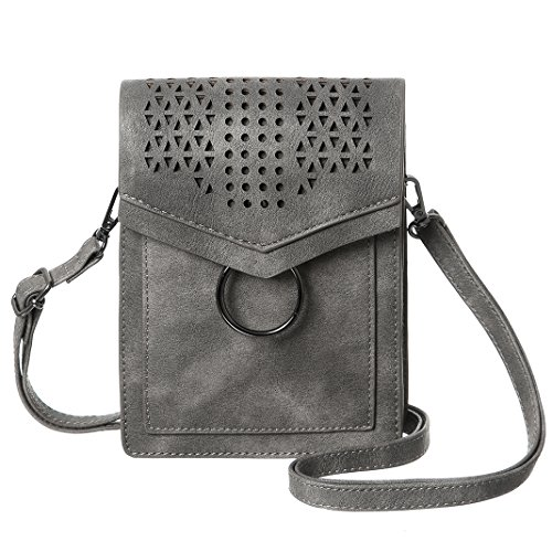 MINICAT Women Portable Small Crossbody Bags Cell Phone Purse Wallet with Credit Card Slots(Gray) (Best Hand Sanitizer Brands In India)