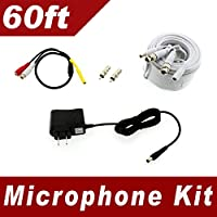 [60ft] Microphone Audio Kit for Samsung SDH-C85100BF, SDR-B85300, SDC-89440BF system