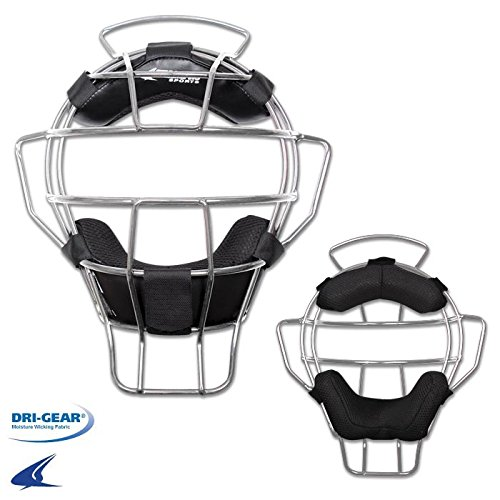 CHAMPRO Sports Adult Umpire Mask - Lightweight - 18 oz, Silver Adult by CHAMPRO