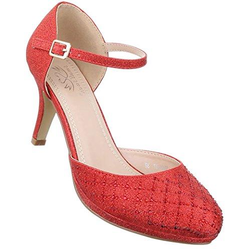 Damen Pumps Schuhe High Heels Stöckelschuhe Stiletto Silber Multi 38 NKDzMkuUIV