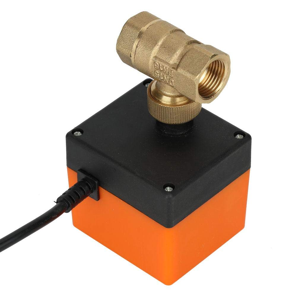 V/álvula de bola de lat/ón DC 12V G1//2DN15 V/álvula el/éctrica de bola motorizada de lat/ón de 2 v/ías para control de flujo