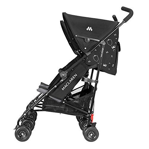Amazon.com : Maclaren Twin Triumph, Black/Charcoal : Umbrella ...