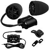 "BOSS AUDIO MCBK600B Black 800 watt Motorcycle/ATV Sound System, Bluetooth Audio, 3"" Speakers (1 Pair), Aux Input, Remote Control"