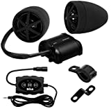 BOSS Audio MCBK600B Speaker/Amplifier Sound System, Bluetooth Remote Control, Weatherproof, Two 4' Black Speakers, Compact Amplifier, Ideal for Motorcycles/ATV and 12 Volt Applications
