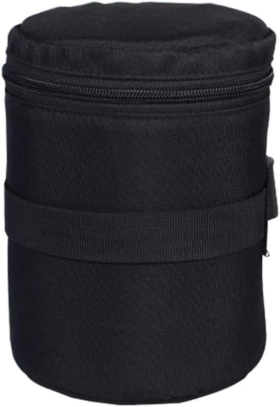 MORE11 Lens Bag Easy to Carry Space Saving Nylon Multifunction Waterproof Lightweight Loop Belt Dust-Proof Two-Way Zipper Protector Shockproof Rainproof Thread Gluing