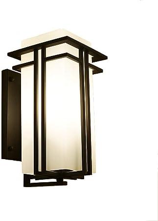 TZX Aplique Decorativo Lámpara de Pared Sala de Estar Luz de la Puerta Jardín Exterior Luz