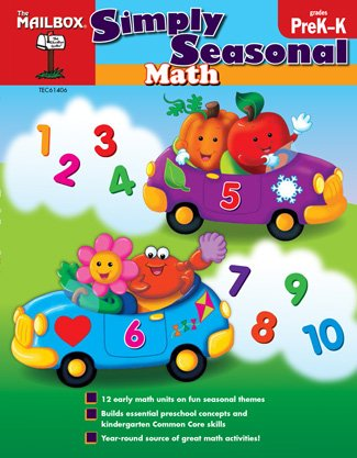 Simply Seasonal Math (PreK-K) (Simply - Math Mailbox Book