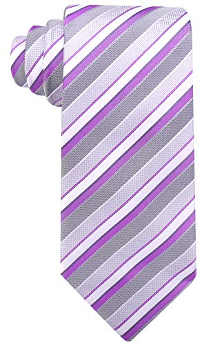 Striped Ties for Men - Woven Necktie - Purple
