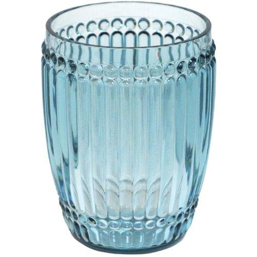 24 Piece Case Pack - Le Cadeaux Milano Teal Blue Shatter Proof Tumbler Glass by Le Cadeaux