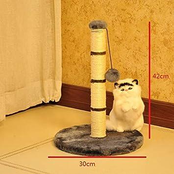 NYDZDM Gato Árbol Juguete Juguetes para Mascotas para Gatos Escalada Bastidor Rascarse Gato Gato rasguño Casa del Gato Piedra de rascar (Color : Gris): ...