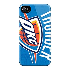 Excellent Cell-phone Hard Cover For Iphone 4/4s With Customized Stylish Oklahoma City Thunder Image IanJoeyPatricia