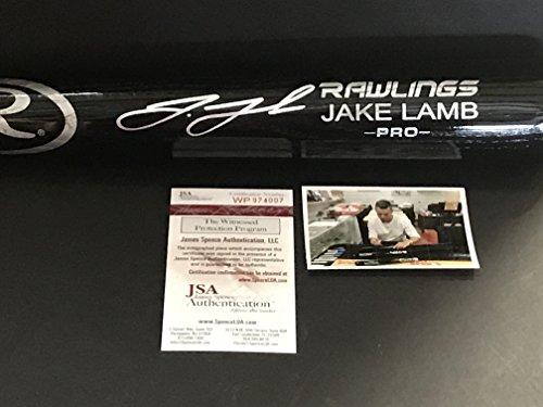 Jake Lamb Arizona Diamondbacks Autographed Signed Black Baseball Bat JSA WITNESS COA