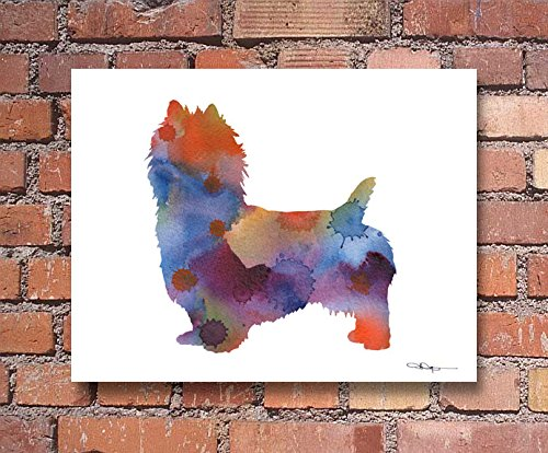 """Australian Terrier"" Abstract Watercolor Art Print By Artist DJ Rogers"
