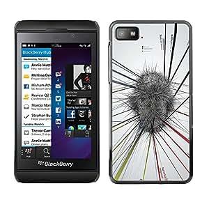 MobileHut / Blackberry Z10 / Abstract Mind Map White Grey Stress / Delgado Negro Plástico caso cubierta Shell Armor Funda Case Cover