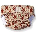 CuteyBaby That's a Wrap Diaper Cover, Sock Monkeys, Large