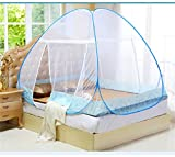 New Style Red Mosquito Net For Bed Pink Blue Purple Student Bunk Bed Mosquito Net Mesh, Adult Double Bed Netting Tent AS the picture show 120X190X140 CM