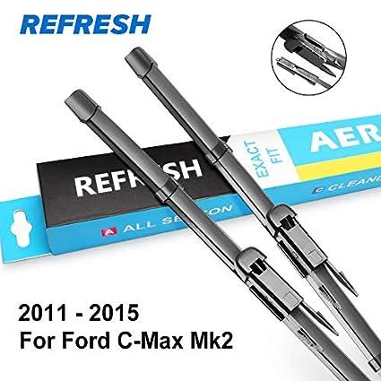 2015 ford c max wiper blade size