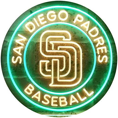 TeroLED SDP Baseball Colorful LED Neon Sign Green and Yellow w16 x h12