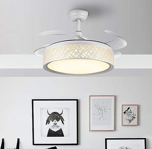 YBCD - Lámpara LED para Ventilador de Techo, 107 cm, telescópica ...