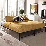 VECELO 14 Inch Platform Bed Frame/Mattress Foundation/No No Box Spring Needed/Steel Slat Support, Twin Size, Black