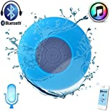Easy Go – Mini-altavoz azul impermeable inalámbrico Bluetooth 3.0 Mini Altavoz ducha piscina coche manos libres con micrófono para Apple Iphone 4S/5 S4 iPad iPod Tablet PC