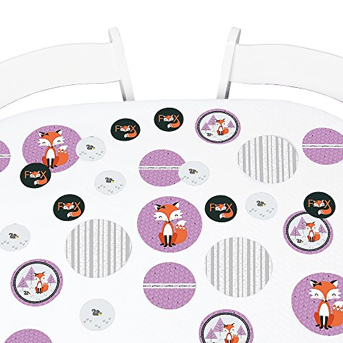 (Big Dot of Happiness Miss Foxy Fox - Baby Shower or Birthday Party Giant Circle Confetti - Party Decorations - Large Confetti 27 Count)