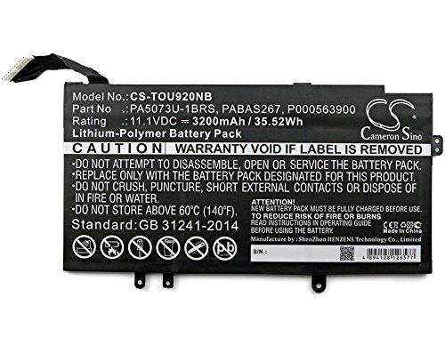 Toshiba P000563900,PA5073U-1BRS,PABAS267 Battery - Replacement for Toshiba Satellite U925t,Satellite U920t(Li-Polymer,11.10V,3200mAh / 35.52Wh ) (1brs Toshiba Replacement)