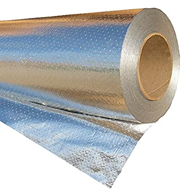 RadiantGUARD ULTIMA Radiant Barrier Insulation Roll 48-inch 500 square feet (U-500-B) – Reflective Aluminum Breathable Attic Roof Foil House Wrap – BLOCKs 97% of Heat/99% RF Signals SCIF RFID