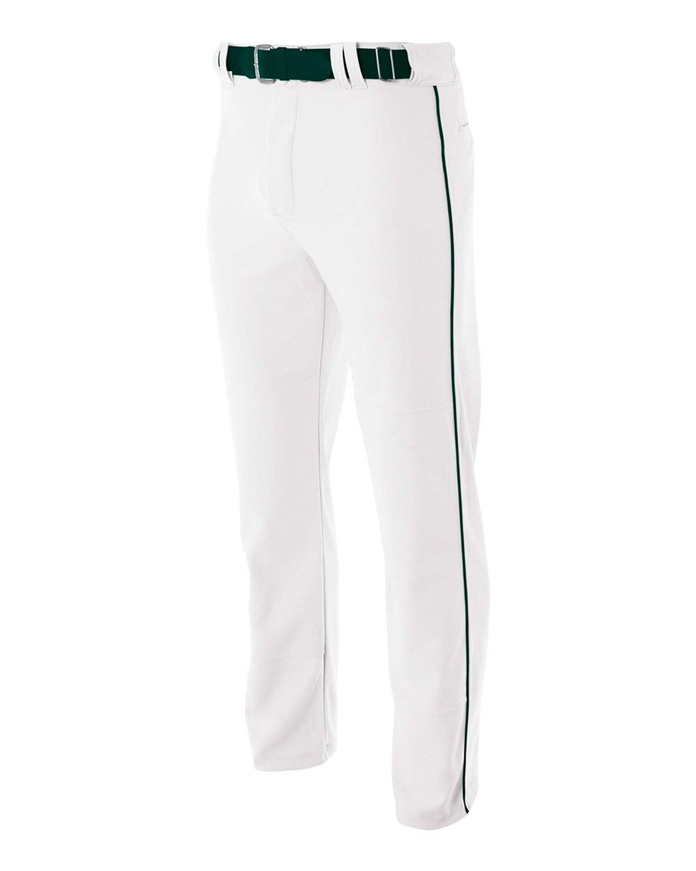 A4 NB6162-WHF Pro-Style Open Bottom Baseball Pants, Large by A4