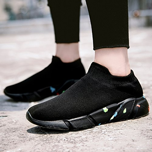 Sole Casual Fashion Ryanmay Sneakers Mesh Athletic Soft Breathable Men's Lightweight 02black Women's Shoes Running Sport 8z4Hqw8