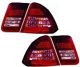 Honda Civic Sedan Replacement Tail Light Assembly LED, Chrome - 1-Pair
