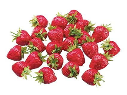 umiss artificial strawberries 30pcs fake strawberry artificial fruits lifelike red strawberry for decoration arrangements home house kitchen decor dinopure - Strawberry Kitchen Decoration