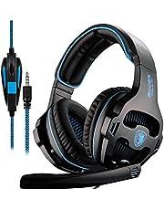 Cuffie Gaming per PS4 XBOX ONE PC, Sades SA810 di W Gaming Headset sopra l' orecchio per cuffie con microfono …