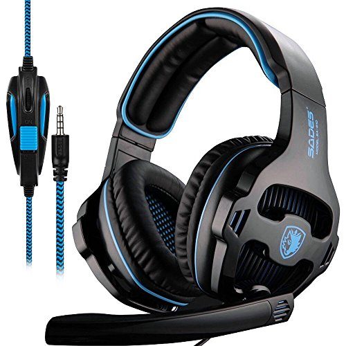 SADES SA810 New Xbox one PS4 PC Gaming Headsets Headphones, 3.5mm Jack Gaming Headset Stereo Sound Over-ear Headphone with Microphone Volume Control For Sale