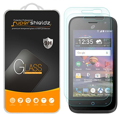 - [2-Pack] Supershieldz for ZTE Jasper LTE Tempered Glass Screen Protector, Anti-Scratch, Anti-Fingerprint, Bubble Free, Lifetime Replacement